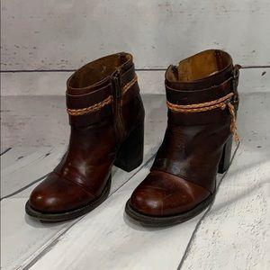 Freebird - Steven Lion Cognac Leather Ankle Boots